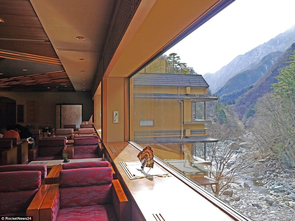 The hotel is nestled in the mountains in a remote valley. It offers views of nature but is several hours drive from the nearest attraction