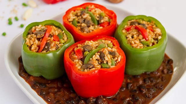 Red-and-Green-Stuffed-Bell-Peppers_Black-Bean-Sauce